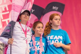 mother daughter closing 2013 Dallas Fort Worth Susan G. Komen 3-Day breast cancer walk