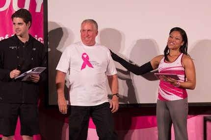Edwin Taube, Captain of the largest fundraising team at at the 2013 Arizona 3-Day is recognized