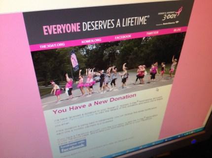 donation screen angle