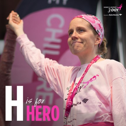 susan g. komen 3-Day breast cancer walk hero