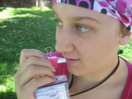 susan g. komen 3-Day breast cancer walks walking hacks lip balm binder clip