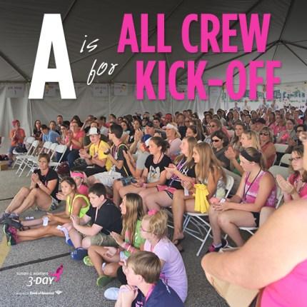 susan g. komen 3-day breast cancer walk crew blog ABCs  all crew kick-off