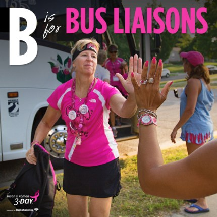 susan g. komen 3-day breast cancer walk crew blog ABCs  bus liaison