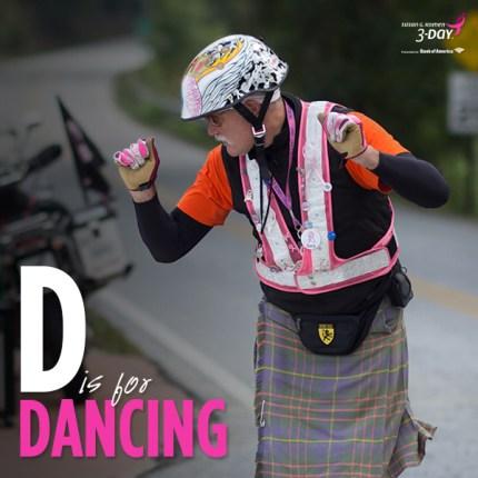 susan g. komen 3-day breast cancer walk crew blog ABCs  dancing