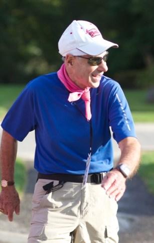 Milestone Award Winner Bert on his way to 60 miles on Day 2 of the Susan G. Komen Michigan 3-Day