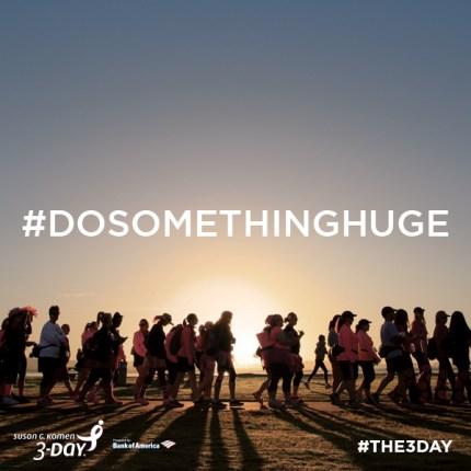 susan g. komen 3-Day breast cancer walk blog instagram photo challenge #dosomethinghuge