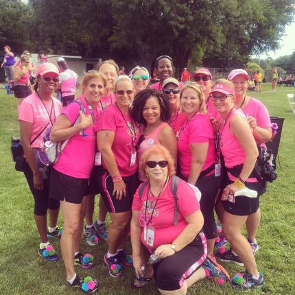 Members of the BC Babes yesterday with Dr. Sheri Prentiss, National Spokesperson for the Susan G. Komen 3-Day