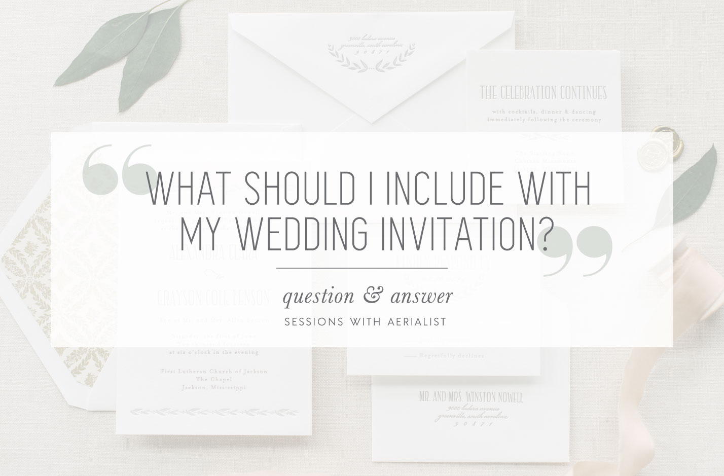 Aerialist Press  What to include with my wedding invitation