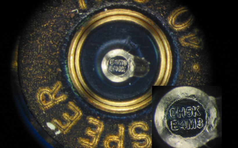 Speer case head with a microstamp
