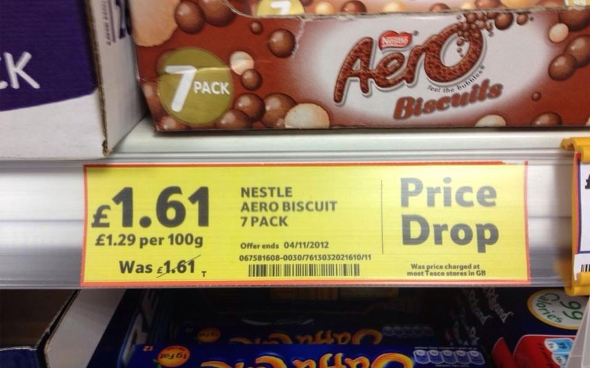 Tescos value