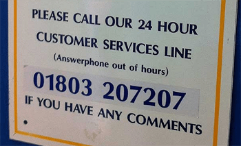 The English are so dedicate customer service