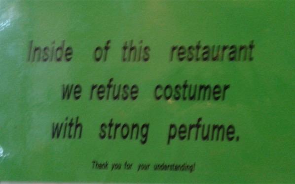 Poor smelly customer Berlin