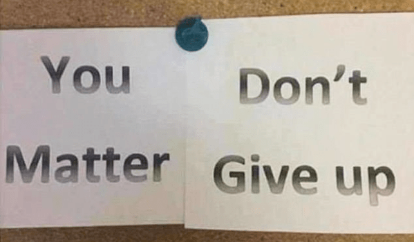 Inspirational signs can be self defeating