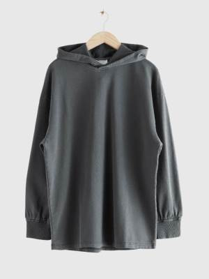 & OTHER STORIES OVERSIZED ORGANIC COTTON HOODIE