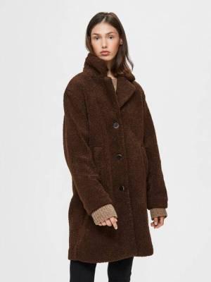 Rental coats SELECTED FEMME TEDDY FAUX FUR COAT