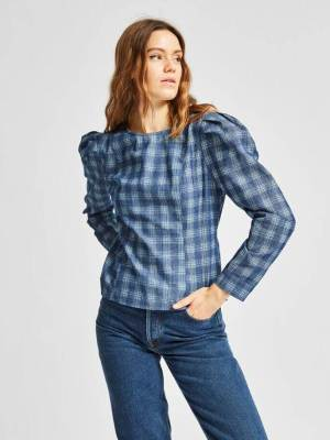 Rent Valentine's SELECTED FEMME PUFF SHOULDER FITTED SHIRT