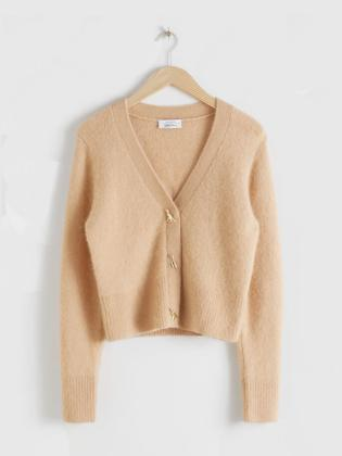Rent & OTHER STORIES BUTTON KNIT CARDIGAN