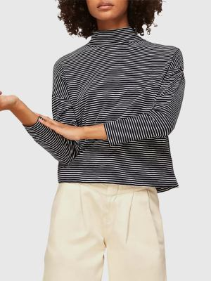 Rent WHISTLES STRIPE HIGH NECK RELAXED TOP
