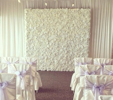 White flower wall for wedding
