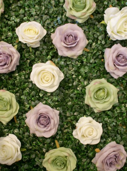 mint lavender wedding flower wall 2016