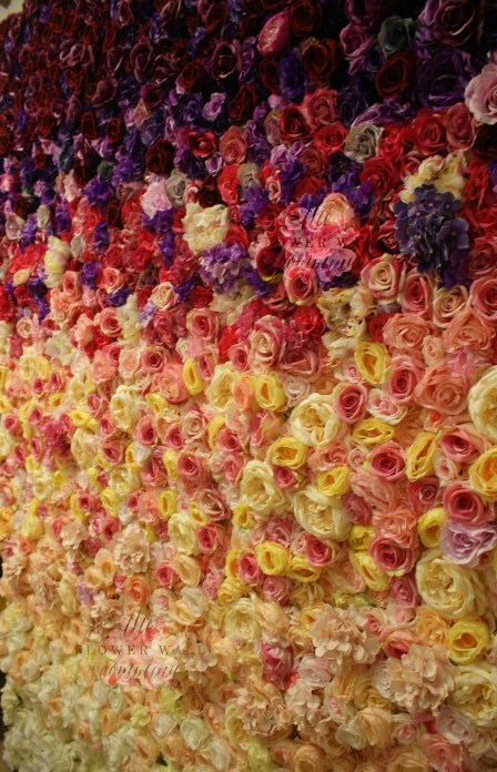 ombre flower wall, flower wall hire, wedding flower wall, flower walll rental, where to buy a flower wall