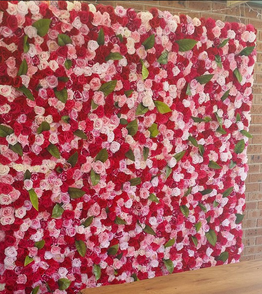 dior flower wall, flower wall rental, wedding flower wall, pink flower wall