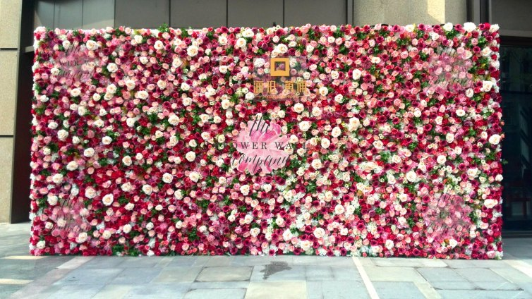 flower wall rental pink karen tran