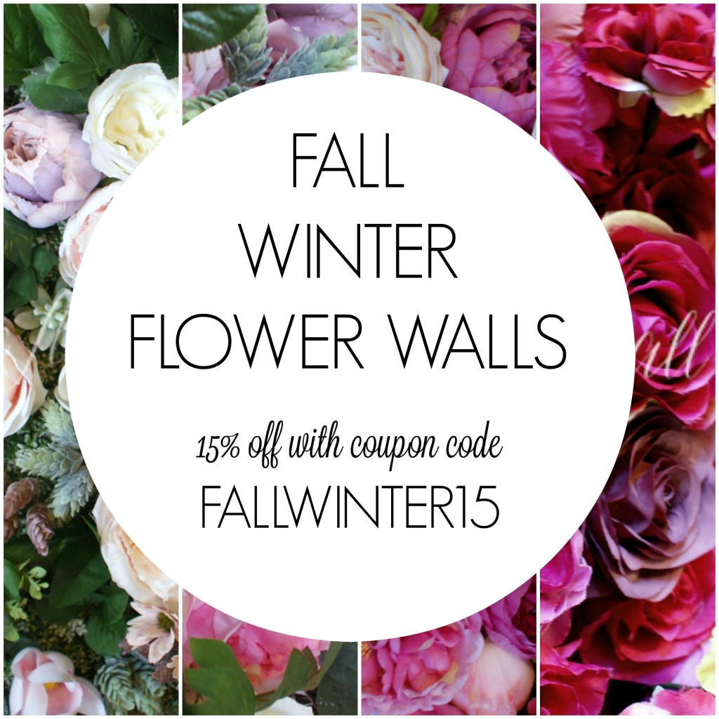 FALL WINTER FLOWER WALL COUPON