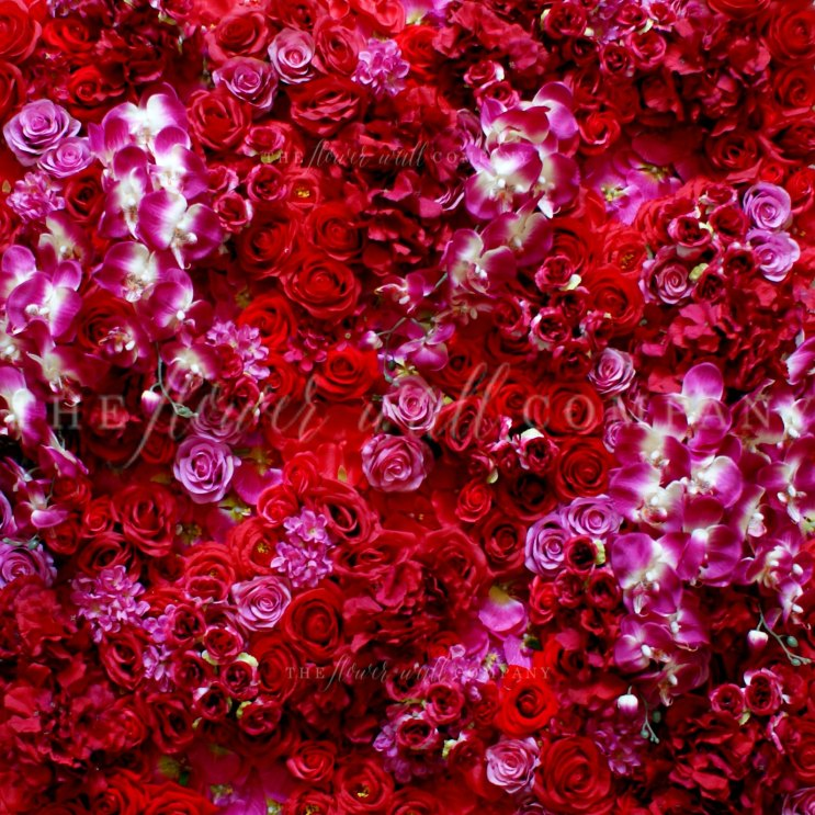 red flower wall karen tran flower wall luxe flower wall