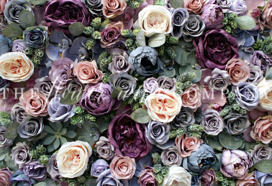 luxury flower wall, high end flower wall, karen tran flower wall floral backdrop buy flower wall cheap flower wall rent flower wall jewel tone wedding