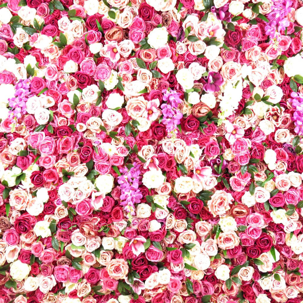 Fake As Flower Wall