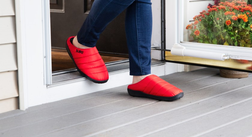 subu red indoor outdoor slippers