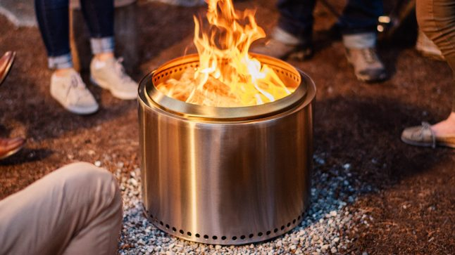 Solo Stove bonfire steel fire pit, gather around the campfire