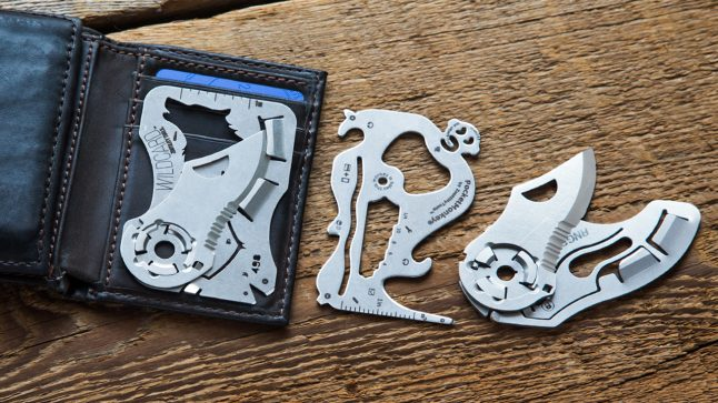 Zootility wildcard pocket tool folds neatly into a wallet
