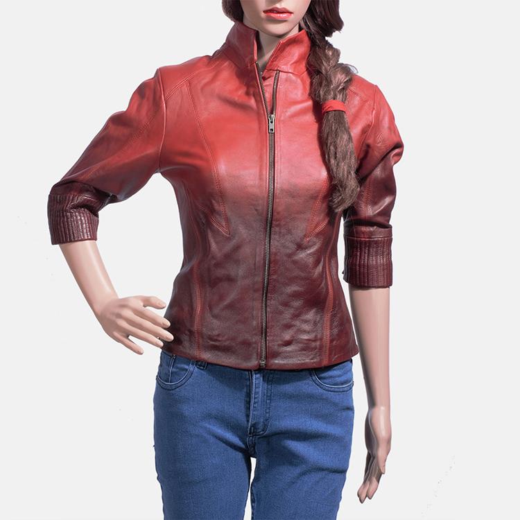 sheepskin leather jacket