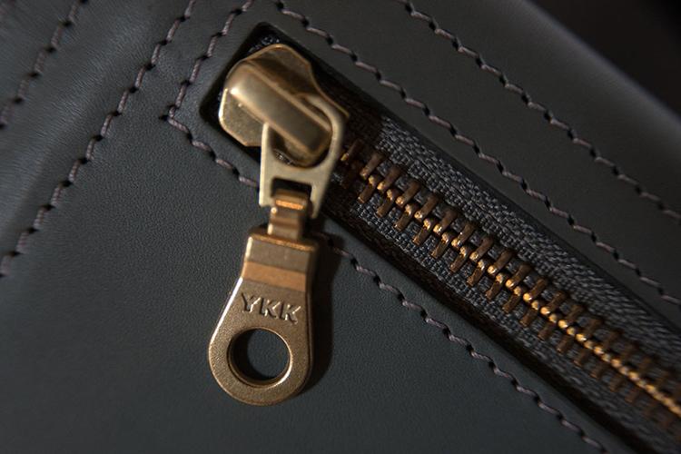 ykk zipper on leather jacket