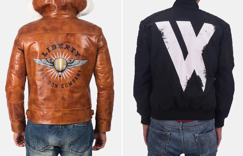 Logo Printing leather jackets