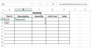 FIRST VLOOKUP EXAMPLE
