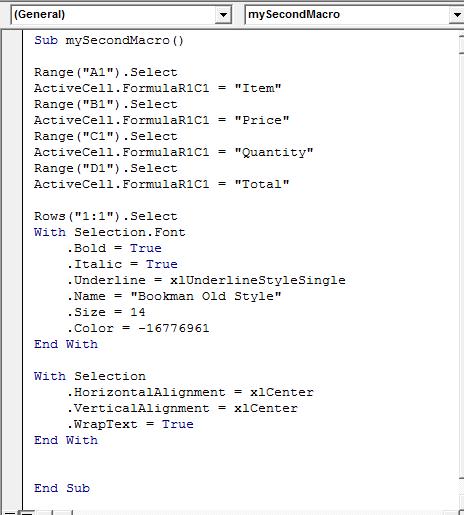 Excel VBA Macros : Format Text - The JayTray Blog