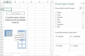 Pivot Table Options