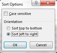 Image showing the sort options