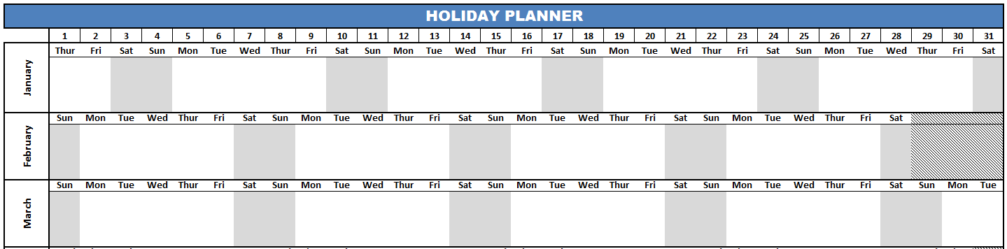 Sample Holiday Planner