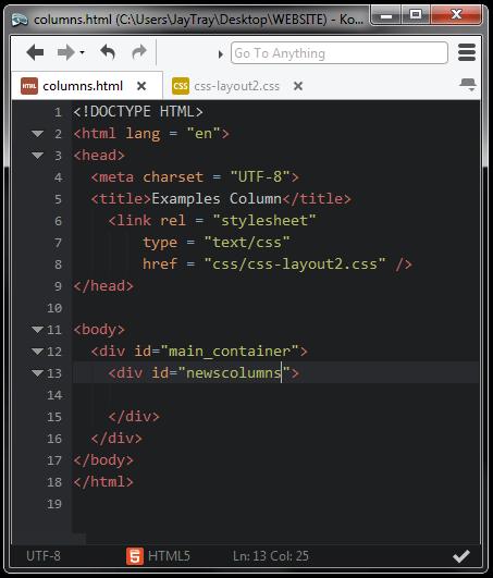 blank html file