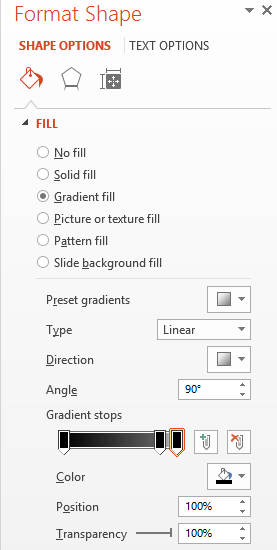 fade options for powerpoint star wars effect option