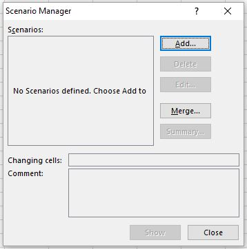 Image of scenario manager dialog box
