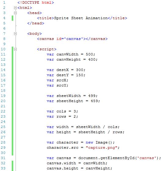 Sprite code