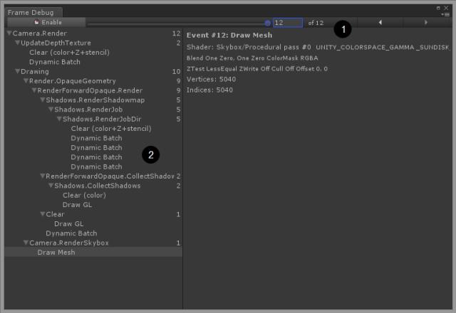 batching frame debugger