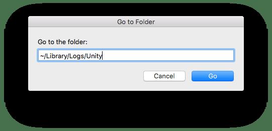 mac go to folder unity logs