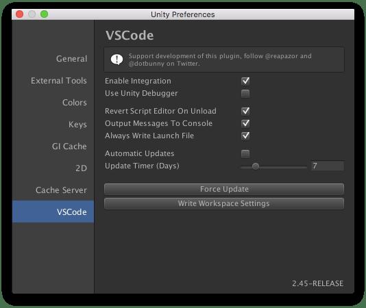 vscode preferences window