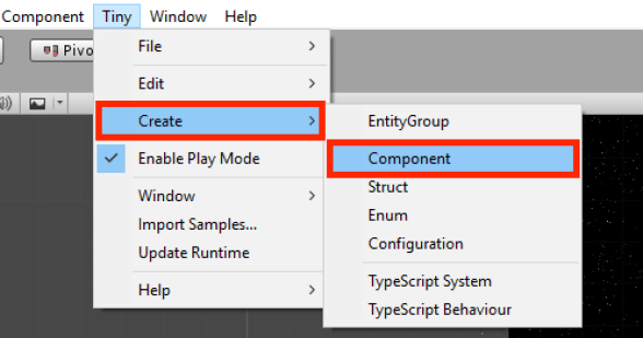 Project Tiny Component